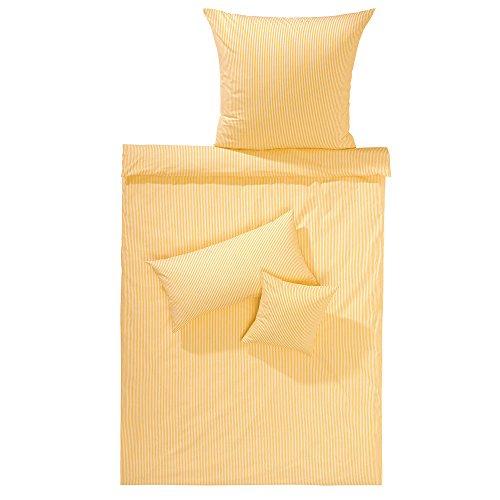 Lorena Batist Bettwäsche Basel Streifen gelb Kissenbezug einzeln 80x80 cm