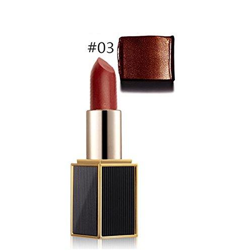 Lippenstift Mit Lipliner,EUZeo Meerjungfrau Schimmer Lippenstift Metallic Farbe Lipgloss lang anhaltenden kosmetischen Lip Makeup Tool (C)