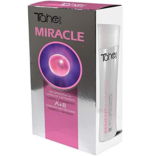 Tahe Botanic Miracle Pack: Champú Benefit 300 ml + Tratamiento Miracle Treatment 50 ml con Queratina Activada y Células Madre Vegetales Activas
