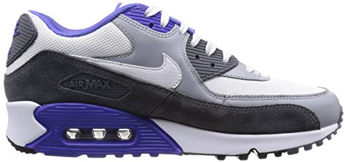 Nike Herren Air Max 90 Essential Low-Top Weiß (White/White-Silver-Dark Grey)