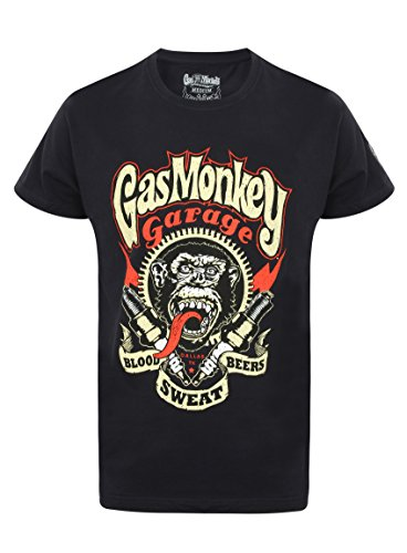 Gas Monkey Garage T-Shirt Sparkplugs Schwarz