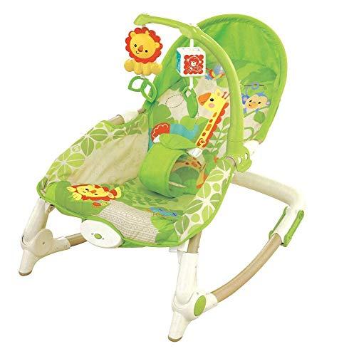 Hongge Babywippe,Rocking Chair Neugeborenen elektrische rockende Babyschale mit Musik schütteln Schaukel Leibwächter Stuhl höhenverstellbar