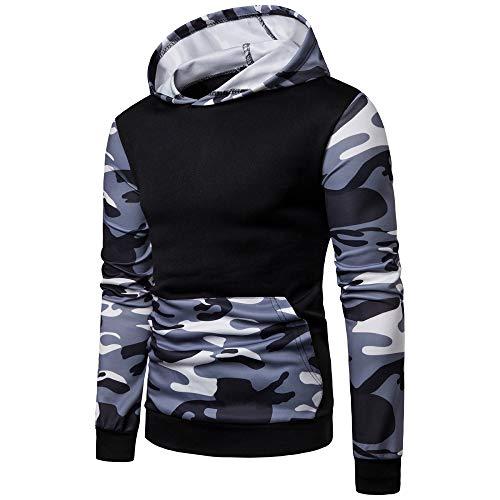 DNOQN Oversized Hoodie Herren Spleißen Sweatshirt Herbst Winter Falten Slim Fit Raglan Langarm Hoodie Top - Sich Kleiden Wie Ein Mann Kostüm