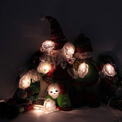 1.2 m Halloween-Schnur-Licht Mit 10 LED-Lichtleiste Party Garten Patio Dekoration,dekorative Kürbisschnur beleuchtet Festival-Festival-Schnur-Lichter für Garten Bäume Patio Weihnachten Parteien