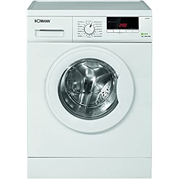 Bomann WA 5720 Waschmaschine Frontlader mit großem LED-Display, A+++, 1,400 U/min, 7 kg
