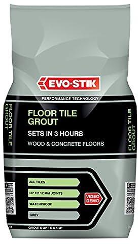 Evo-Stik 30812294 5 kg Fast Set Floor Tile Grout - Grey