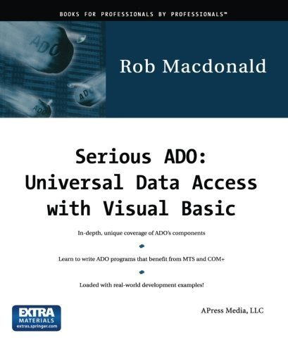 Serious ADO: Universal Data Access with Visual Basic by Robert MacDonald (2000) Paperback par Robert MacDonald