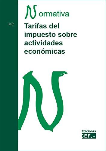 Tarifas sobre el impuesto de actividades económicas