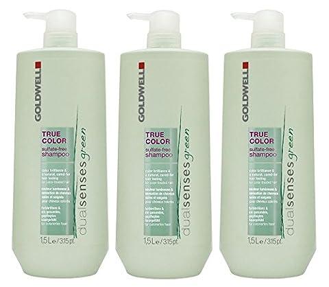 Goldwell Green True Color Sulfate-Free Shampoo + Pumpe 3 x 1500 ml Dualsenses Sulfat-frei GW