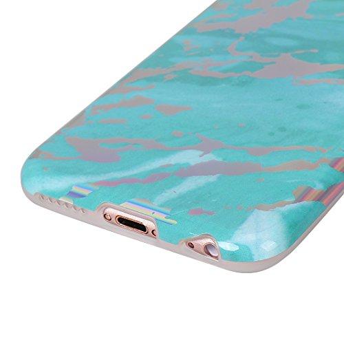 Coque Silicone Transparent iPhone 6 Plus Case,Etui Housse Apple iPhone 6S Plus Coque rigide transparente Souple Cas Rosa Schleife®Silicone Gel Etui de Protection Portable Téléphone Pochette arriere Bu Bleu