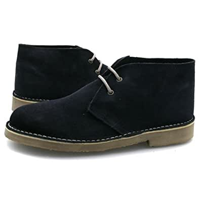 New Mens Top Quality Navy Suede Desert Boots UK 9