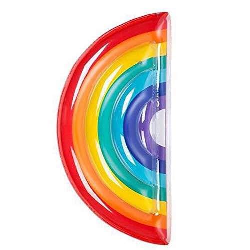 gel Wings Aufblasbare Schwimmfloß PVC Pool Liege für Sommer Schwimmbad Party,Schmetterling Form Blow up Strand Spielzeug für Kinder und Erwachsene,Regenbogen Halbkreis 190 * 96 cm ()