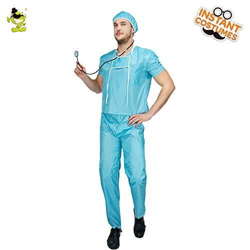 Verkauf Den Kostüm Herren Für - GAOGUAIG AA Heißer Verkauf Herren Chirurg Kostüm Halloween Party Cosplay Krankenhausarzt Uniform for Erwachsene Rollenspiel Arzt Kostüme SD (Color : Onecolor, Size : Onesize)