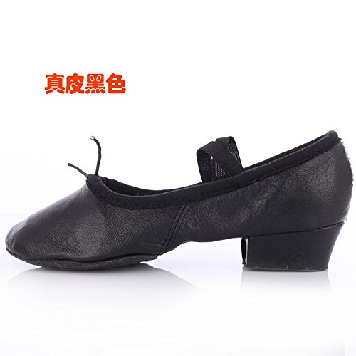 Wuyulunbi@ Con lo Yoga scarpe da ballo scarpe da ballo fondo morbido Kungfu scarpe Nero
