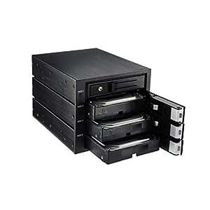 """Enermax Rack Backplane EMK5401 Boîte pour disque dur 5,25"""" Noir"""
