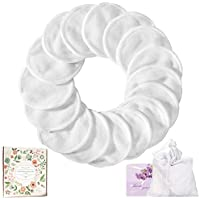 Reusable Cotton Pads,18 Pack Washable Eye Face Makeup Remover Pads Bamboo Cotton Pads for all Skin Types with Laundry Bag | Zero Waste