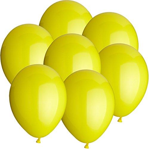 Ø25cm + Geschenkkarte + PORTOFREI mgl. + Helium & Ballongas geeignet. High Quality Premium Ballons vom Luftballonprofi & deutschen Heliumballon Experten. Tolle Luftballondeko und Geschenkidee mit Ballons. (Gelb Ballon)