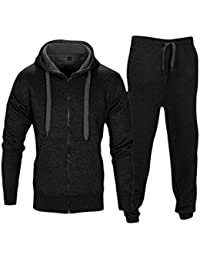 Love My Fashions Mens Tracksuit Set New Contrast Cord Fleece Hoodie Top  Bottoms Jogging Zip Joggers e319172af