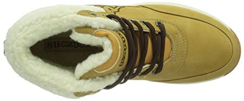 Kappa Bright Mid Fur T, Baskets mode mixte enfant Multicolore (4143 Beige/Offwhite)