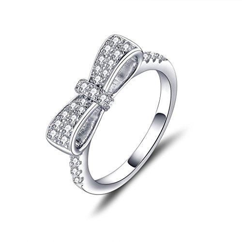 YL  - FINERING 925 Sterling-Silber  Sterling-Silber 925 Rundschliff   weiß Oxyde de Zirconium