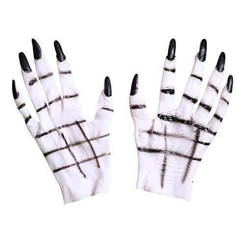 Halloween Ghost Hand Handschuhe Horror Kostümzubehör für Halloween Cosplay Kostümparty