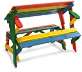 Habau 687 Childrens Picnic Bench 2-in-1 Multi-Coloured