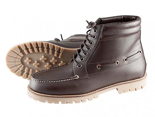 PFIFF Damen Winterschuhe Canvas Extra Freizeitschuhe Leder Schuhe, Braun, 41