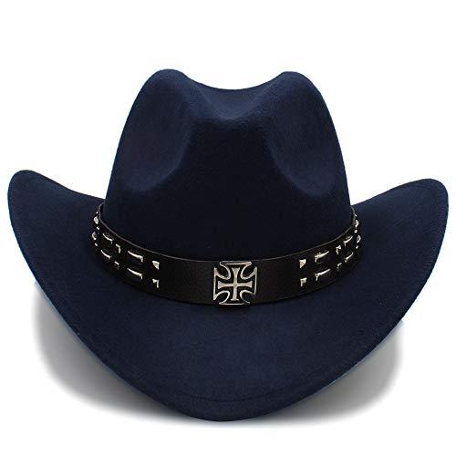 ZHENGHAINIGN Cool Western Cowboy Sombreros Hombres