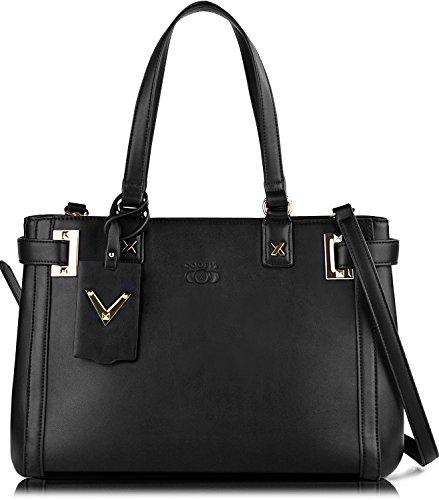 Damen Henkeltaschen,COOFIT Damen PU Lederne Handtaschen Tasche Umhängetaschen Schultertasche für Damen