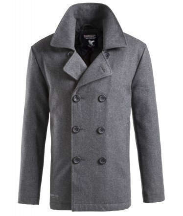 Surplus Herren Pea Coat, Anthracite, S | 04250403132662