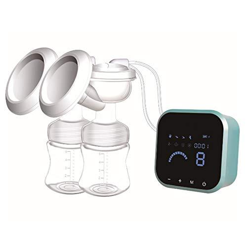 Sacaleches eléctrico, portátil extractor de leche electrico con pantalla táctil de LCD inteligentes, recargable saca leche electrico con Recipientes para leche materna y masaje de mama por SUMGOTT