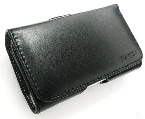 Emartbuy® Vision Sottile Line Nokia 130 / Nokia 130 Dual Sim Compatibile PU Pelle Orizzontale Nero Case Cover Custodia (Misura X-Small) Con Clip Per Cintura