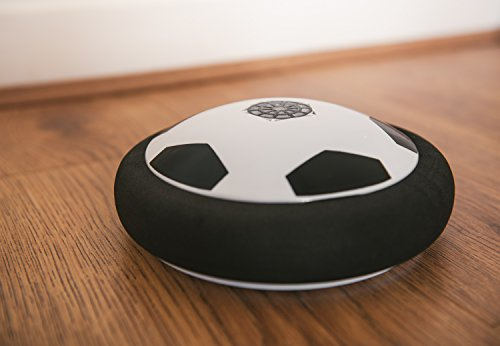 Hillington  Indoor Floating Hover Football     Glides on a Cushion of Air to Turn Any Floor into A Football Pitch     Works on Flat Surfaces and Even on Low Pile Carpets     Soft Bumper Protects Furniture and Fingers     Enjoy Playing Football Whatever the Weather