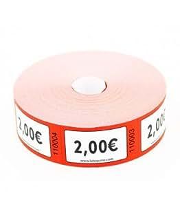 1000 tickets en rouleau valeur (2 Euros)