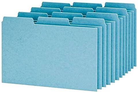 Esselte Pendaflex Corporation ESSP413 Guides-Blank-.33 Presspahn Index Card Cut-4in.x6in -. Bleu
