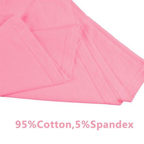 Yeesea Damen Sommer Mode Druck Bluse Kurzarm Lässig T-Shirt Baumwolle Hemd Tops Shirts Rosa