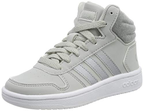 adidas Jungen Hoops MID 2.0 K Laufschuhe, Mehrfarbig (Grey Two F17/Silver Met./FTWR White F35796), 33 EU