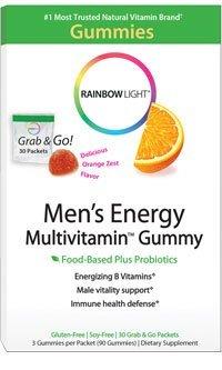 Rainbow Light Men's Energy Multivitamin Gummy 30-PACKET BOX (3 GUMMIES/PKT)