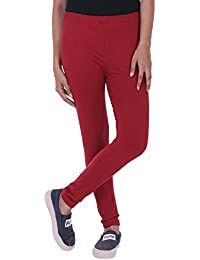 Pi World Ultra Soft Cotton Regular Women's Legging (Piworld_068_Maroon_X-Large)