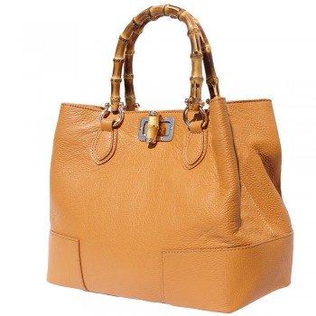 - , Sac à main pour femme orange ARANCIO cuir