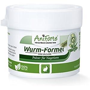 [Gesponsert]AniForte Wurm-Formel 10 g für Nagetiere, Kaninchen und Meerschweinchen, Natürliche Kräutermischung statt chemischer Kur