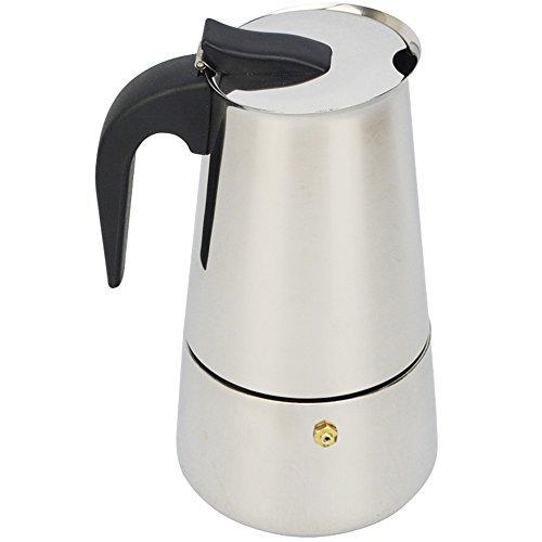 ATWFS Moka Espresso Kaffeemaschine Espressotasse KaffeeTopf Latte Percolator Herd Top - 9 Cups