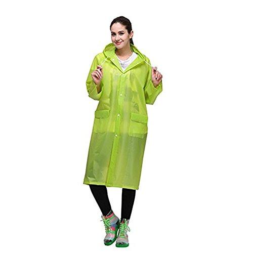 Regenmäntel Reusable Regenmantel Bunt Durchsichtig Wasserdicht Herren Damen Grün