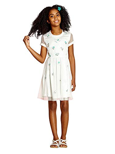 Yumi Girl) All Over Sprig Embellished Dress (Girls Embellished Dress)