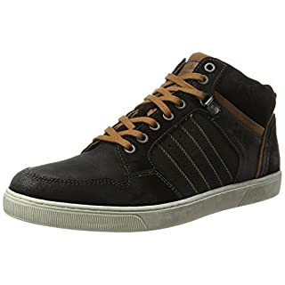 Australian Herren Weatherspoons Leather Hohe Sneaker, Schwarz (Black-Tan-Off White), 44 EU