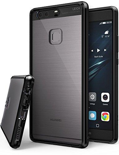 Huawei P9 Plus Hülle, Ringke FUSION kristallklarer PC TPU Dämpfer (Fall geschützt/ Schock Absorbtions-Technologie) für das Huawei P9 Plus - TinteSchwarz