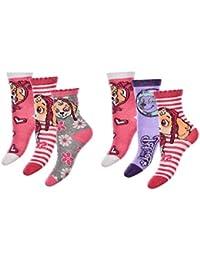 PawPatrol calcetines medias para niños, niñas con Skye y Everest 6-pack nuevo (23/26)