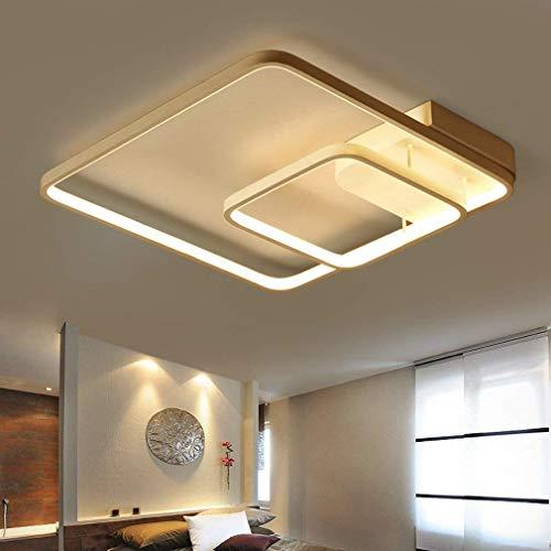 Plafoniera a led contemporanea minimalista quadrato bianco alluminio lampada da soffitto in metallo sala da pranzo sala da pranzo studio decorativo soffitto illuminazione lampadario d45cm * h10cm dim