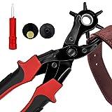trou Perforateur/punch outil multifonctions de ceinture en cuir Punch two-shape trous, cercle ou Oblat forme