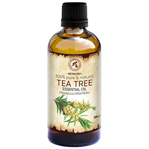 Teebaumöl 100ml - Melaleuca Alternifolia - Australien - 100% Reine Ätherisches Öl Teebaum - Teebaum Öl Guten für Beauty - Schönheit - Entspannung - Massage - Diffuser - Duftlampe - Raumduft - Kosmetik -